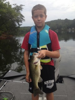 Lane Bailey a.k.a. Bassinator!  2.5 pounder caught this morning on Lake Hickory!